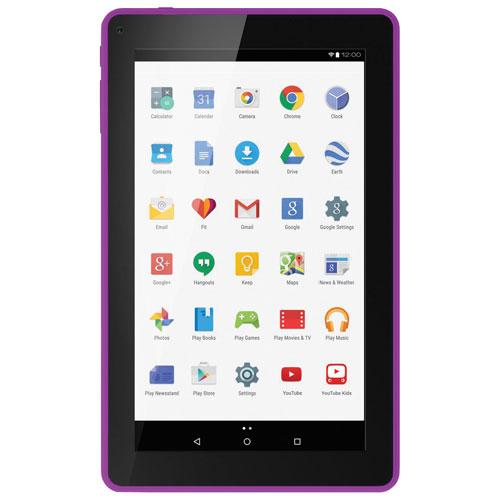 Tablette 9 po 16 Go Android 6.0 Polaroid à processeur ARMv7 et étui-clavier folio - Violet