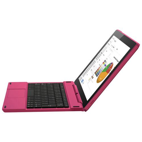 Tablette 10 po 16 Go Android 6.0 de Polaroid et étui-clavier folio, process. Atom X3 d'Intel-Magenta