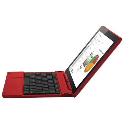 Tablette 10 po 16 Go Android 6.0 Polaroid à processeur Atom X3 d'Intel et clavier - Rouge