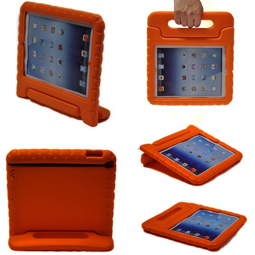 Kids Proof Safe Foam Shock Proof Handle Case Cover for iPad mini 1/ 2/ 3 - Orange