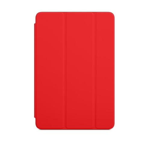 Generic Smart Folding Cover Stand Case for Apple iPad Mini With Back Cover - Red