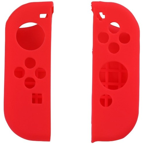 Protective Silicone Case Cover Skin for Nintendo Switch Left and Right Controllers- Red