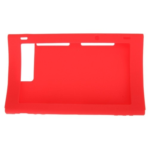 Protective Silicone Rubber Host Case Cover Skin for Nintendo Switch - Red
