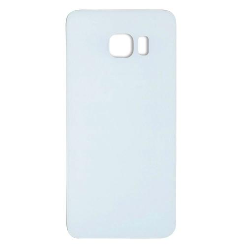 Coque arrière en verre de porte de batterie pour Samsung Galaxy S6 Edge - Blanc