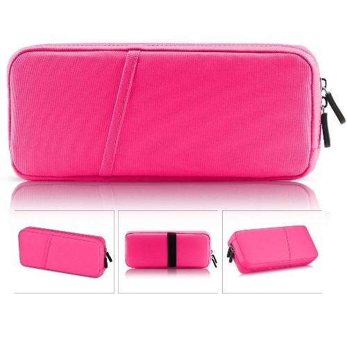 Polyester Waterproof Protective Travel Carry Bag Soft Storage Case for Nintendo Switch-Red