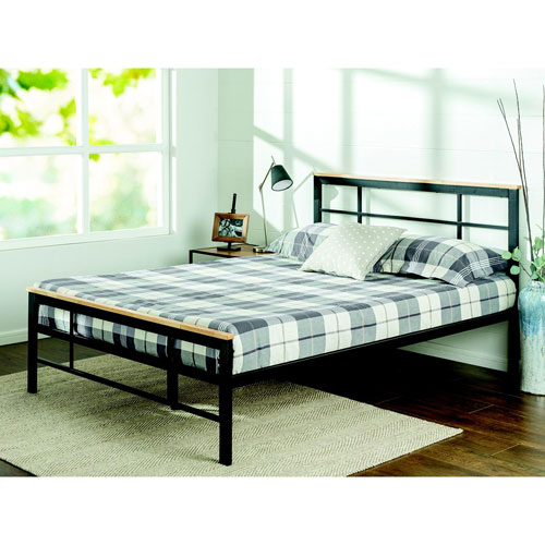 Zinus Urban Contemporary Platform Bed Frame - Twin - Black : Beds ...