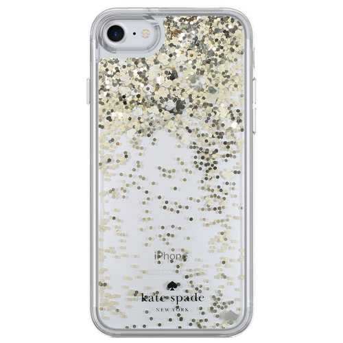 kate spade new york Liquid Glitter Fitted Hard Shell Case for iPhone 7/8 - Clear