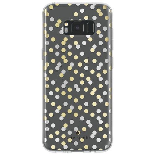 Étui rigide ajusté de Kate Spade New York pour Galaxy S8+ - Transparent