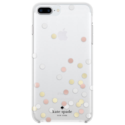kate spade new york Fitted Hard Shell Case for iPhone 6 Plus 6S Plus 7  Plus 8 Plus - Clear   iPhone 8 4220dffe2f