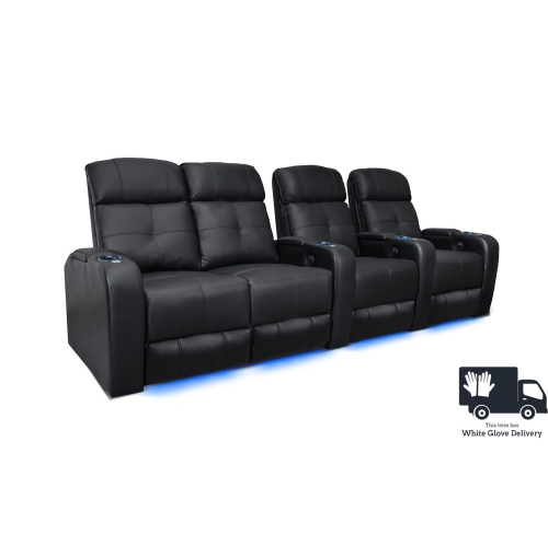 valencia verona fauteuil cin ma maison noir inclinable manuel led en cuir de surface rang e de 4. Black Bedroom Furniture Sets. Home Design Ideas