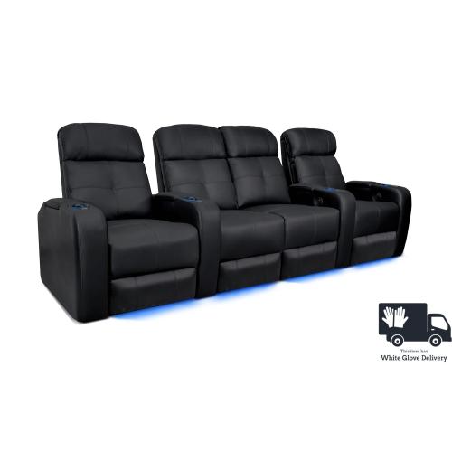 valencia verona premium leather air manual recliner led lighting