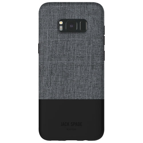 JACK SPADE Color-Block Fitted Hard Shell Case for Galaxy S8+ - Grey