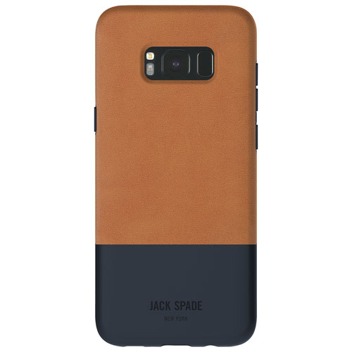 JACK SPADE Color-Block Fitted Hard Shell Case for Galaxy S8 - Brown