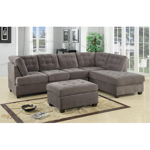 with in lounge grey ella seater chaise reversible sofa