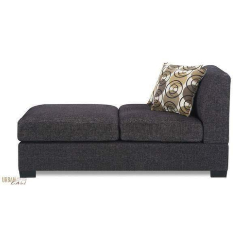 Urban cali hayward linen chaise in ash black linen fabric for Chaise urban but