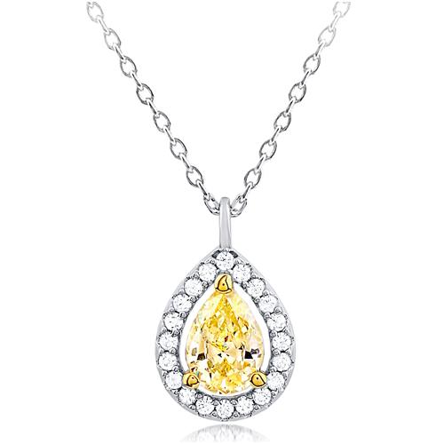 """The Sun Drop"" Silver Necklace"