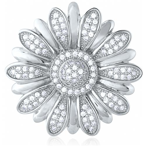 """Double Daisy"" Silver Pendant"