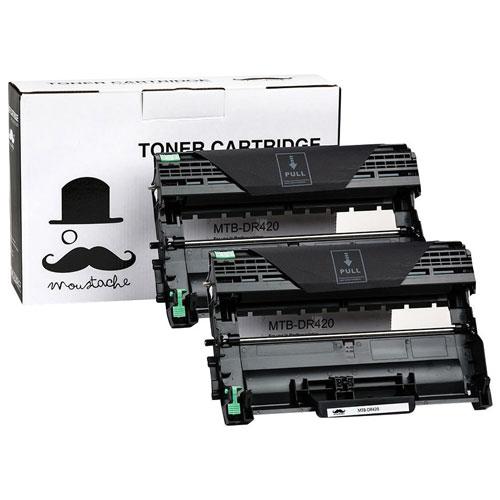 tambour de cartouche d 39 encre en poudre noire moustache pour imprimantes brother dr 420. Black Bedroom Furniture Sets. Home Design Ideas