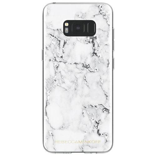 Étui rigide ajusté de Rebecca Minkoff pour Galaxy S8 - Blanc