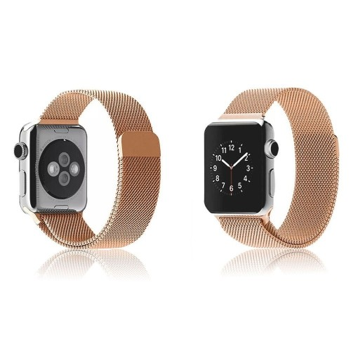 3358b4c8181 Modern Milanese Magnetic Closure iWatch Band Bracelet Strap Loop for Apple  Watch Sport Edition 42mm M L - Rose Gold - Online Only