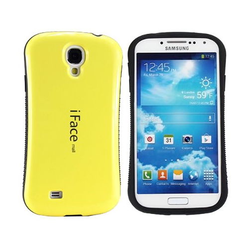 Generic Fitted Hard Shell Case for Samsung Galaxy S4 - Yellow