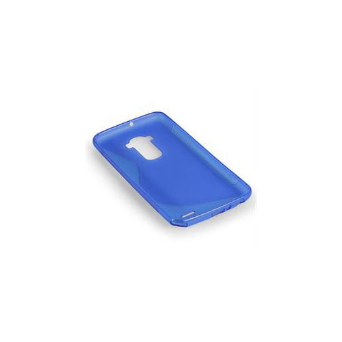 S-Line S Shape TPU Rubber Gel Case Cover Skin for LG G2-Blue
