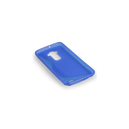 S-Line S Shape TPU Rubber Gel Case Cover Skin for LG G3-Blue