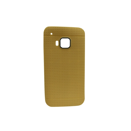 Generic Fitted Soft Shell Case for HTC One M9 - Gold