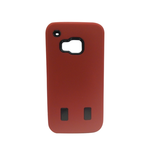 Coque hybride double couche pour HTC One M9 - Rouge