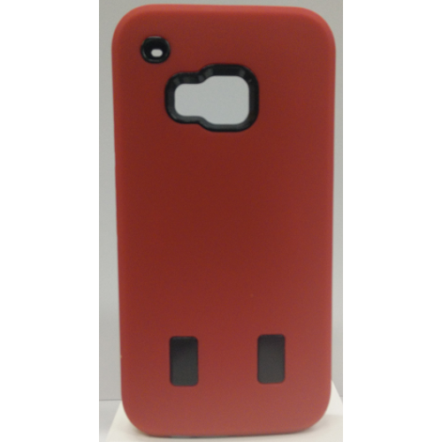 HTC One M9 Dual Layer Hybrid Case - Red