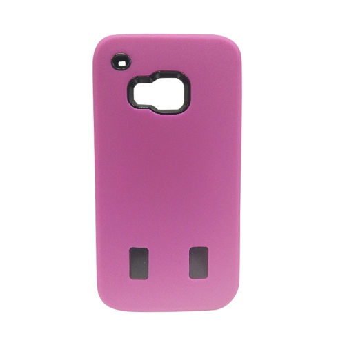 HTC One M9 Dual Layer Hybrid Case - Hot Pink
