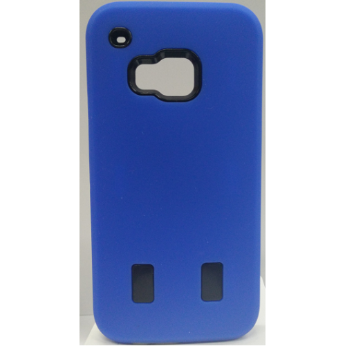 HTC One M9 Dual Layer Hybrid Case - Blue