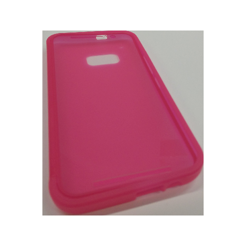 HTC One M9 TPU Gel Case With Flip Cover - Hot Pink