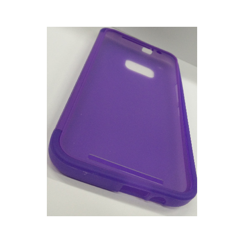HTC One M9 TPU Gel Case With Flip Cover - Purple