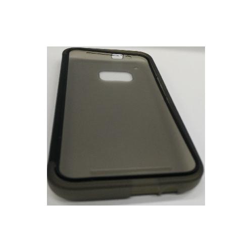 Coque en gel TPU avec support rabattable pour HTC One M9 - Gris