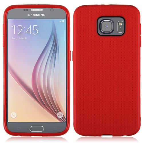 Samsung Galaxy S6 Dotted TPU Case - Red