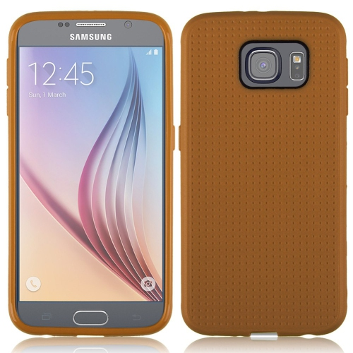Samsung Galaxy S6 Dotted TPU Case - Brown