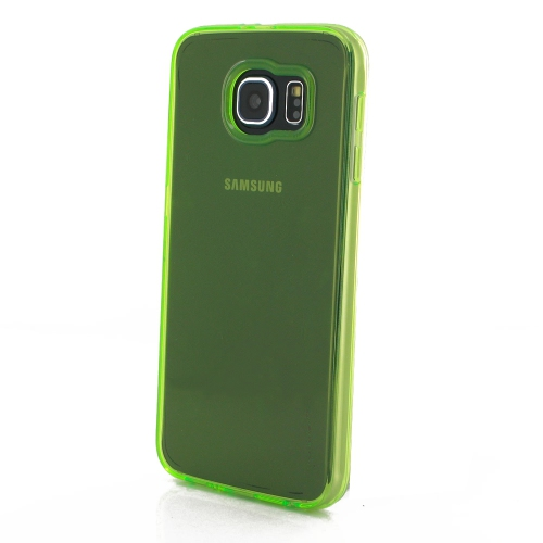 Samsung Galaxy S6 Transparent Case - Green