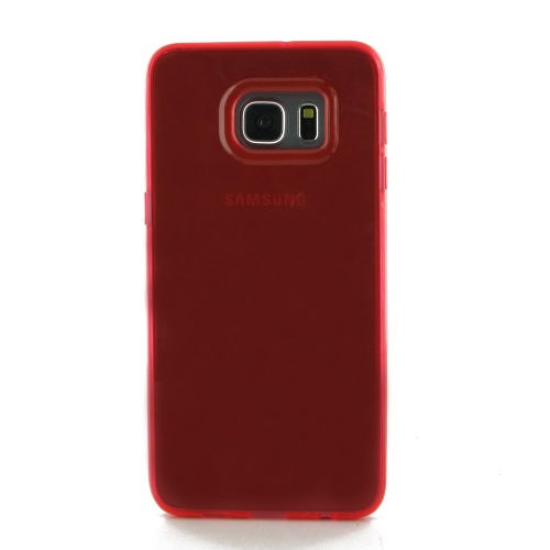 Samsung Galaxy S6 Transparent Case - Red
