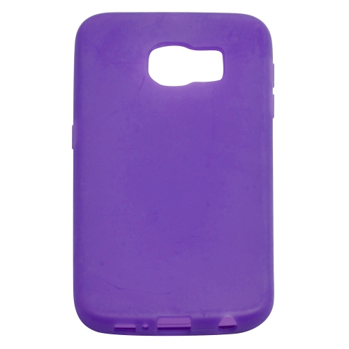 Samsung Galaxy S6 TPU Gel Case With Transparent Front Door - Purple