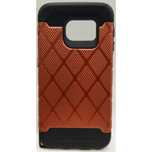 Samsung Galaxy S6 Edge Spotted Diamond Case - Red