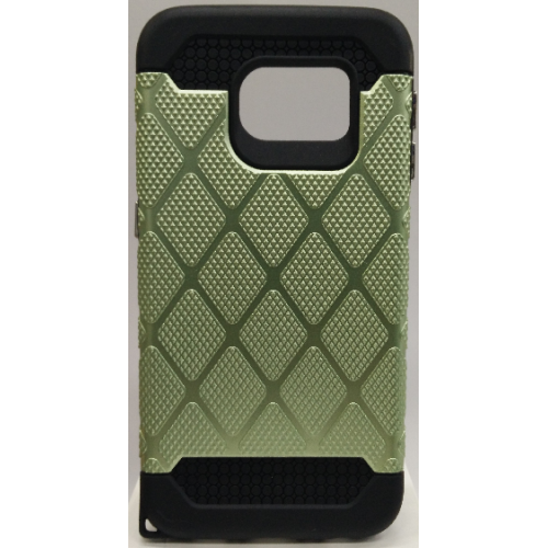 Samsung Galaxy S6 Edge Spotted Diamond Case - Green