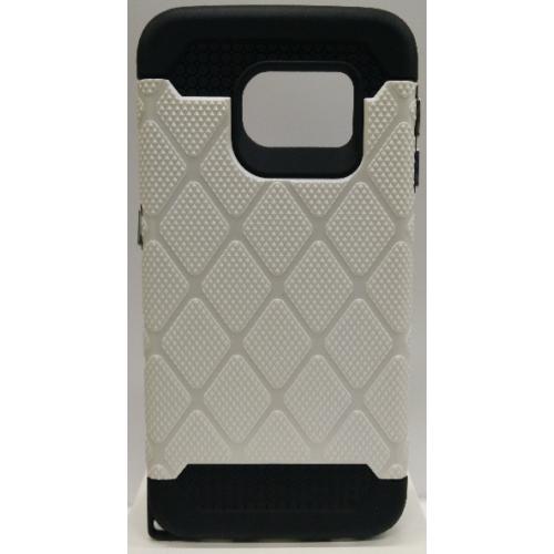 Samsung Galaxy S6 Edge Spotted Diamond Case - White
