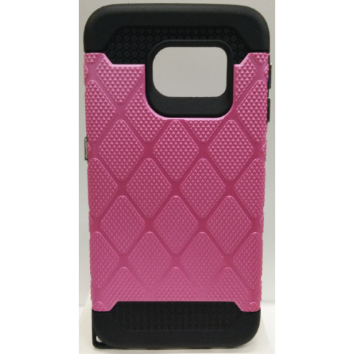 Samsung Galaxy S6 Edge Spotted Diamond Case - Hot Pink