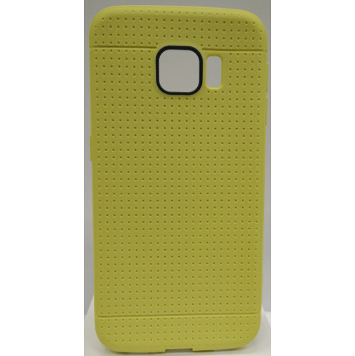 Samsung Galaxy S6 Edge Dotted TPU Case - Yellow