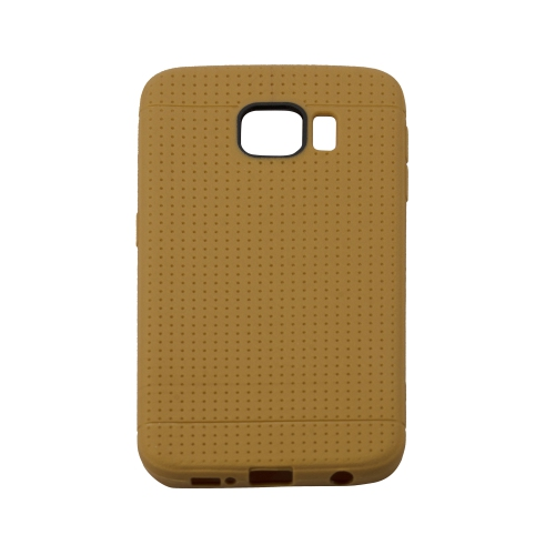 Samsung Galaxy S6 Edge Dotted TPU Case - Brown