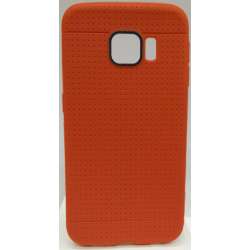 Samsung Galaxy S6 Edge Dotted TPU Case - Red
