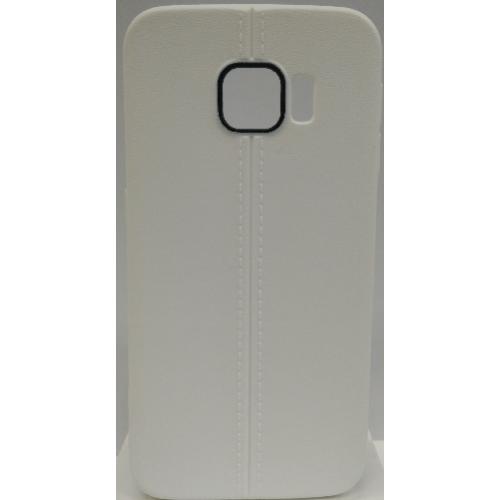 Coque en gel TPU bonbon pour Samsung Galaxy S6 Edge - Blanc