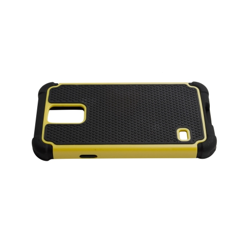 Rugged Impact Hybrid Hard Back Case Cover For Samsung Galaxy S5 - Yellow