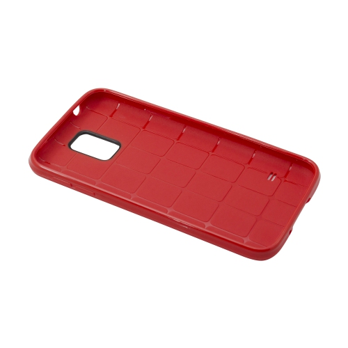 Esource Parts Fitted Hard Shell Case for Samsung Galaxy S5 - Red